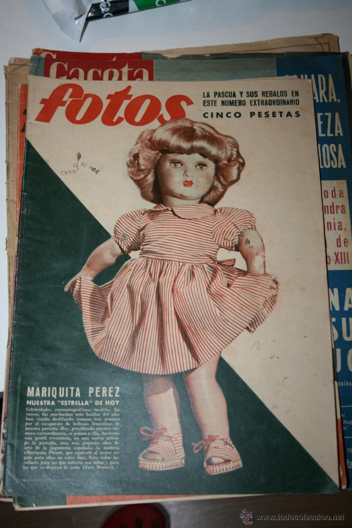 ANTIGUA REVISTA FOTOS - PORTADA MARIQUITA PEREZ (Juguetes - Catálogos y Revistas de Juguetes)