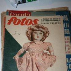 Juguetes antiguos: ANTIGUA REVISTA FOTOS - PORTADA MARIQUITA PEREZ. Lote 44394047