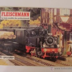 Juguetes antiguos: CATALOGO FLEISSCHMANN ESCALA N PICCOLO. 1991/92. Lote 44423236