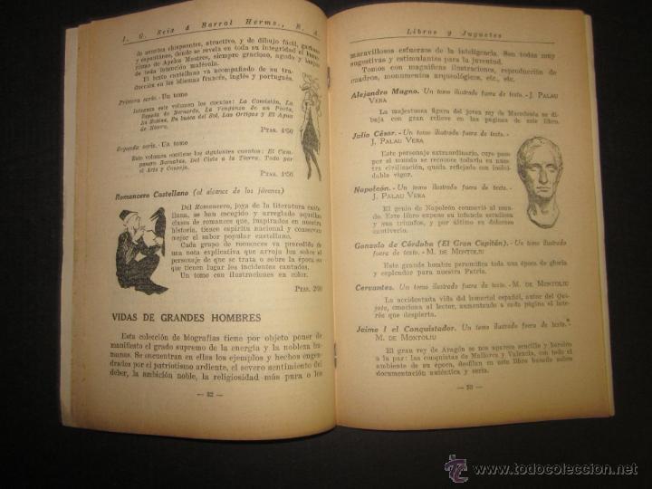 Juguetes antiguos: CATALOGO LIBROS Y JUGUETES SEIX BARRAL - AÑO 1927-(V-1211) - Foto 4 - 45166723