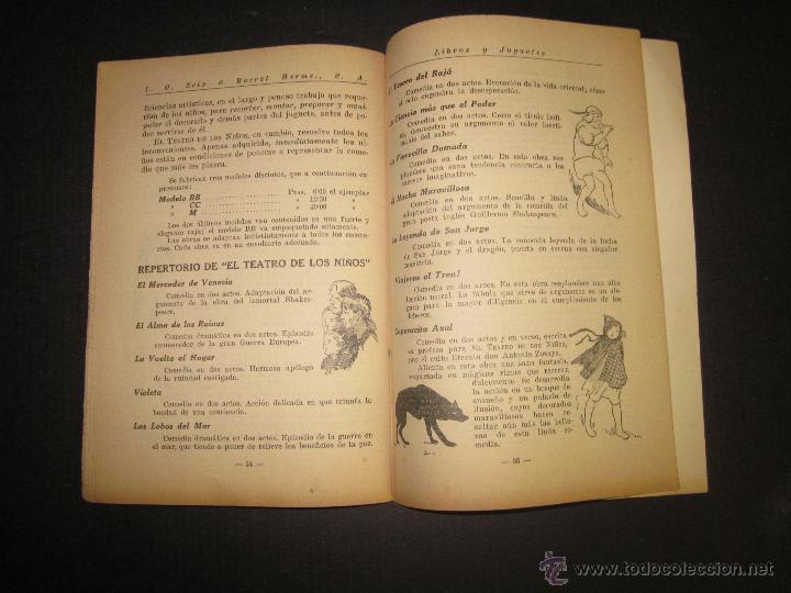 Juguetes antiguos: CATALOGO LIBROS Y JUGUETES SEIX BARRAL - AÑO 1927-(V-1211) - Foto 7 - 45166723