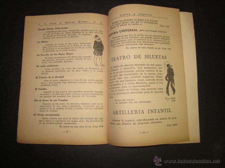 Juguetes antiguos: CATALOGO LIBROS Y JUGUETES SEIX BARRAL - AÑO 1927-(V-1211) - Foto 8 - 45166723