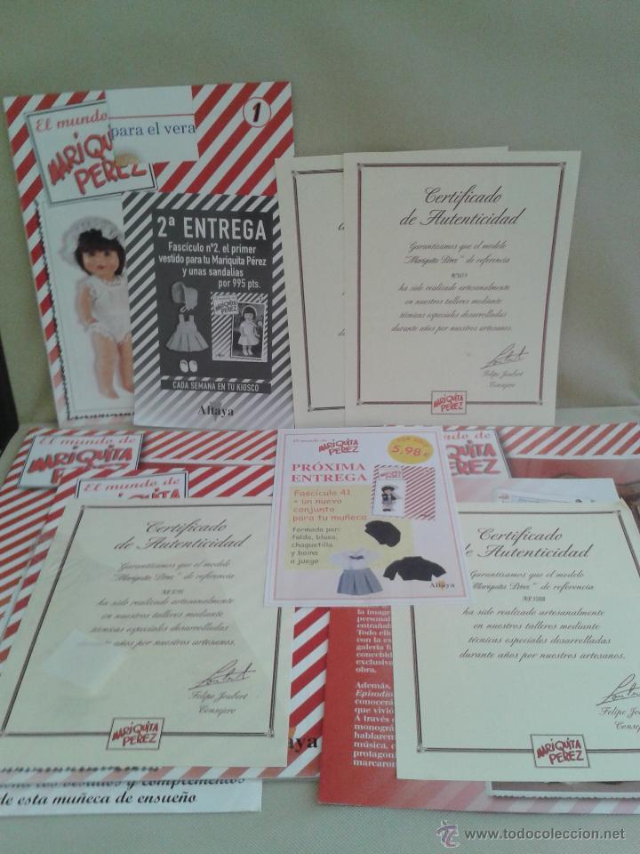 VARIAS GARANTIAS ,Y FOLLETOS DE MARIQUITA PEREZ ACTUAL ,DE ALTAYA (Juguetes - Catálogos y Revistas de Juguetes)
