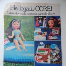 Juguetes antiguos: HOJA PUBLICIDAD MUÑECA CORE (MUÑECAS BB). Lote 45331611