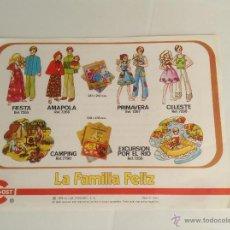 Juguetes antiguos: FAMILIA FELIZ DE CONGOST HOJA PUBLICITARIA 1975. Lote 45347267