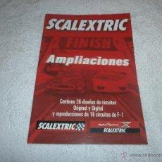 Juguetes antiguos: CATALOGO DE AMPLIACIONES DE SCALEXTRIC. Lote 46415337