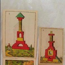 Juguetes antiguos: 2 ANTIGUO CATALOGO LIBRO JUGUETES ARCHER ARQUITECTURA JUEGO CONSTRUCCION AÑOS 40 Nº1-2 MADERA MODELO. Lote 46453738