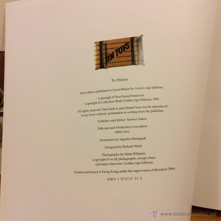 Juguetes antiguos: LIBRO GREAT BOOK TIN TOYS DAVID PRESSLAND 1995 - Foto 6 - 46469765