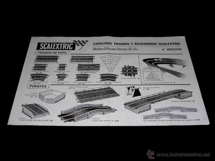DOCUMENTACIÓN SCALEXTRIC EXÍN CATÁLOGO TRAMOS Y ACCESORIOS 4ª EDICIÓN, ORIGINAL 1970. (Juguetes - Catálogos y Revistas de Juguetes)