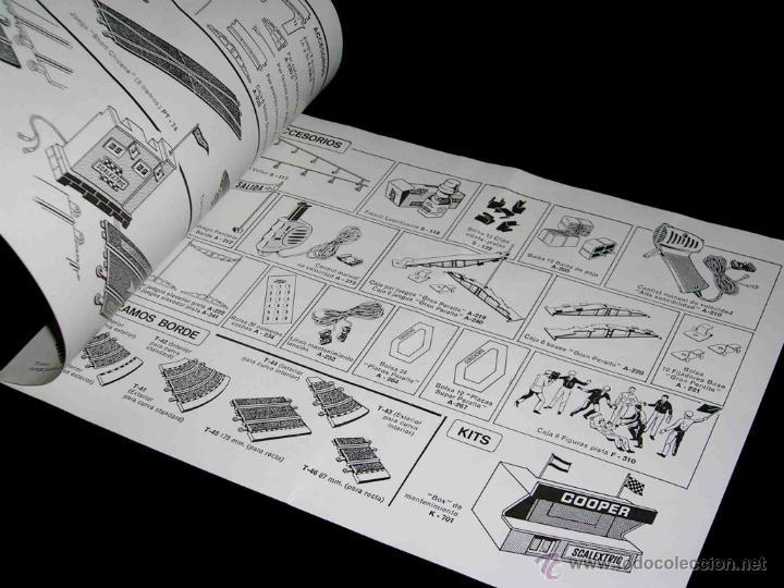 Juguetes antiguos: Documentación Scalextric Exín Catálogo Tramos y Accesorios 4ª edición, original 1970. - Foto 2 - 46540315