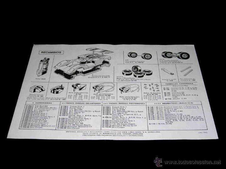Juguetes antiguos: Documentación Scalextric Exín Catálogo Tramos y Accesorios 4ª edición, original 1970. - Foto 3 - 46540315