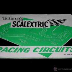 Juguetes antiguos: DOCUMENTACIÓN SCALEXTRIC EXÍN CATÁLOGO RACING CIRCUITS CIRCUITOS 6ª EDICIÓN, ORIGINAL 1969.. Lote 91856987