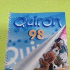 Juguetes antiguos: CATALOGO DE JUGUETERIA - QUIRON FAMOSA 1998. Lote 46077602