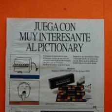 Juguetes antiguos: PUBLICIDAD 1989 - COLECCION JUGUETES - DISET PICTIONARY. Lote 46948831