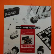 Juguetes antiguos: PUBLICIDAD 1990 - COLECCION JUGUETES - DISET PICTIONARY. Lote 46948835