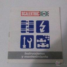 Juguetes antiguos: SCALEXTRIC INSTRUCCIONES Y MANTENIMIENTO-LIBRITO. Lote 48540511