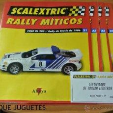 Juguetes antiguos: LOTE 4 FASCÍCULOS FORD RS 200 RALLYS MÍTICOS DE ALTAYA.. Lote 48590267