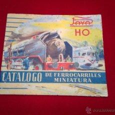Juguetes antiguos: PAYA HO CATALOGO DE FERROCARRILES EN MINIATURA. Lote 48642777