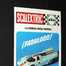 Juguetes antiguos: CATALOGO SCALEXTRIC FABULOSO PORSCHE V/72. Lote 48808902