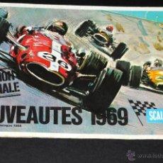 Juguetes antiguos: CATALOGO DESPLEGABLE SCALEXTRIC EN FRANCES NOUVEAUTES 1969. Lote 48823903