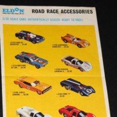 Juguetes antiguos: FOLLETO EN INGLES ELDON ROAD RACE ACCESSORIES. Lote 48824020