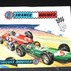 Juguetes antiguos: CATALOGO DESPLEGABLE FRANCE BOLIDES CIRCUIT ROUTIER EN FRANCES. Lote 48868948