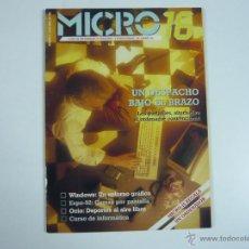 Juguetes antiguos: REVISTA INFORMÁTICA MICROS16. Lote 48893081