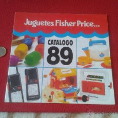 Juguetes antiguos: CATALOGO DE JUGUETES 89 FISHER PRICE IDEAL COLECCIONISTAS COLECCION. JUGUETE JUEGO JUEGOS VER DESCRI. Lote 49013959