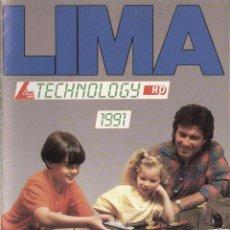 Juguetes antiguos: CATÀLOGO LIMA MODELS HO TECHNOLOGY 1991 - EN INGLÉS, ALEMÁN, ITALIANO Y FRANCÉS. Lote 49152386