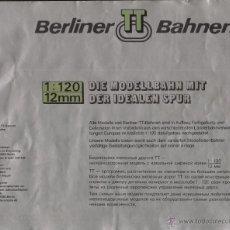 Juguetes antiguos: CATÀLOGO BERLINER TT BAHNEN 1:150 12 MM DER IDEALEN SPUR 1984 ? - EN ALEMÁN Y RUSO. Lote 49153336