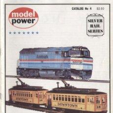 Juguetes antiguos: CATÀLOGO MODEL POWER N GAUGE 1972 READY TO RUN TRAIN SETS USA MINITRIX - EN INGLÉS. Lote 49159712