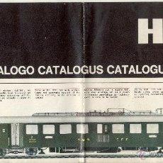Juguetes antiguos: CATÀLOGO LIMA HO SCALE 1967-68 FOLDER - EN ITALIANO, HOLANDÉS, INGLÉS, FRANCÉS Y ALEMÁN. Lote 49188740