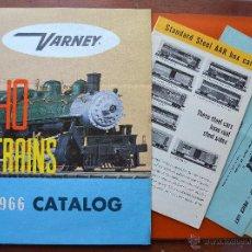 Brinquedos antigos: VERNEY - 2 CATÁLOGOS -1966 Y 1957 CON FOLLETO AZUL ANEXO - TRENES HO - ORIGINAL DE ÉPOCA - INGLÉS. Lote 49605924