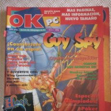 Juguetes antiguos: OK PC NUMERO 2 (REVISTA DE JUEGOS) INCLUYE PISTAS DE CRUISE FOR A CORPSE (I), EPIC, MONKEY ISLAND 2. Lote 49655362