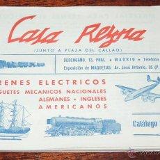 Juguetes antiguos: CATALOGO DE JUGUETES CASA REYNA DE MADRID, CATALOGO 1954 - 55, TIENE 36 PAGINAS Y MIDE 17 X 12,5 CMS. Lote 49741016