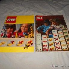 Juguetes antiguos: 2 CATALOGO LEGO PARA MONTAR MUCHISIMAS FIGURAS. AÑOS 70. 21X30 CMS. B,E, 1975. Lote 50140959