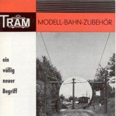 Juguetes antiguos: CATÀLOGO TRAM BERLIN OBERLEITUNG HO O N.1968 MODEL-BAHN-ZUBEHÖR - EN ALEMÁN. Lote 50155826