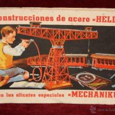 Juguetes antiguos: CATALOGO PARA CONSTRUCCIONES DE ACERO HELLER. Lote 50439190