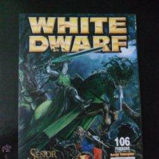 Juguetes antiguos: REVISTA WHITE DWARF Nº 106 GAMES WORKSHP. Lote 50633189