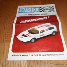 Juguetes antiguos: ANTIGUO FOLLETO CATALOGO MODEL MOTOR RACING MERCEDES WANKEL REF. C-44 DE SCALEXTRIC EXIN - AÑO 1971. Lote 127150083