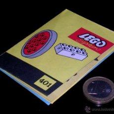 Juguetes antiguos: PEQUEÑO CATÁLOGO LEGO SYSTEM REF. 401 PRINTED IN DEMARK, ORIGINAL AÑOS 60.. Lote 51400518