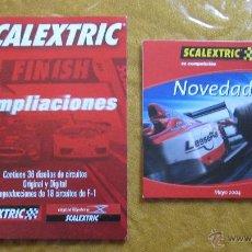 Juguetes antiguos: (3)CATALOGOS SCALEXTRIC AMPLIACIONES ANALOGICO Y DIGITAL VARIOS .. Lote 51406096