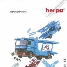 Juguetes antiguos: CATÁLOGO HERPA - MARZO ABRIL 1998. Lote 51489234