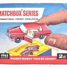 Juguetes antiguos: CATALOGO MATCHBOX SERIES AÑO 1963 EN INGLÉS. Lote 51561920