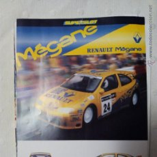 Juguetes antiguos: FICHA SCALEXTRIC RENAULT MEGANE SUPERSLOT. Lote 51612939