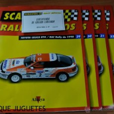 Juguetes antiguos: LOTE 4 FASCÍCULOS TOYOTA CELICA GT4 RALLYS MÍTICOS DE ALTAYA.. Lote 51731344