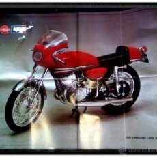 Juguetes antiguos: PÓSTER CATÁLOGO INSTRUCCIONES MOTO 1510 KAWASAKI CAFE RACER DE CONGOST REVELL. Lote 52880129