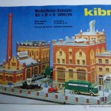 Juguetes antiguos: CATÁLOGO KIBRI 1993/94, CONSTRUCCIONES Y VEHÍCULOS.. Lote 55275501