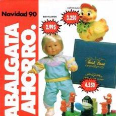 Juguetes antiguos: CATALOGO DE JUGUETES 1990, SIMAGO, MUY RARO, 8 PAGINAS. Lote 181777508