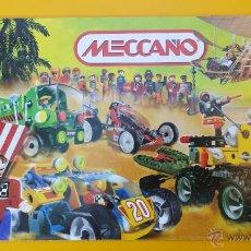 Juguetes antiguos: CATALOGO DESPLEGABLE MECCANO DE 2001. Lote 53503513